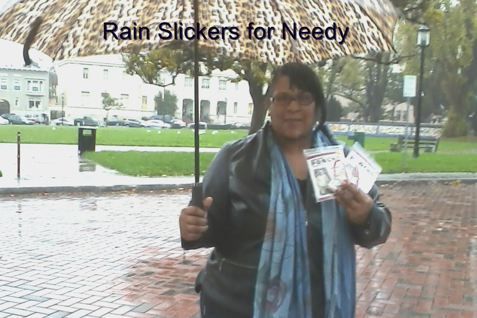rain slicker giveaways